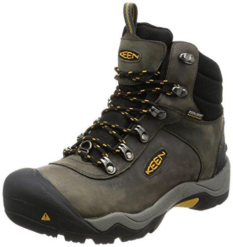 Keen Revel III, Zapatos de High Rise Senderismo para Hombre, Gris Magnet/Tawny Olive 0, 42 EU