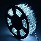 COSTWAY 10M LED Lichterschlauch Lichtschlauch Lichterkette für Außen und Innen mit 360 LEDs Weihnachtsbeleuchtung Weihnachten Deko (Kaltweiß)