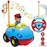 Joylink Voiture Radiocommandé, RC Voiture de Course de Contrôle RC Camion de Jouet Cartoon pour Les Bébés et Les Enfants (Blue)