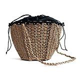 Strohsack Bucket Gürteltasche Schultertasche Weibliche Umhängetasche Messenger Pack Ranzen Handtasche Frauen Crossbody Paket Damen Tote Satchel Sling Packet