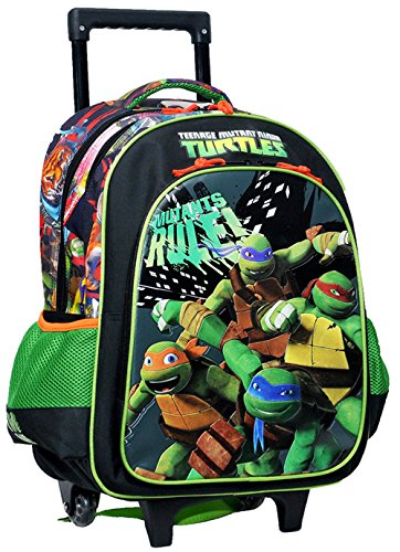 Tortue Ninja - Cartable à roulettes Tortue Ninja 43 CM Mutant Trolley
