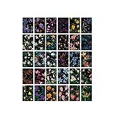Postkarten Blumen und Pflanzen Muster Grußkarten Set von 30
