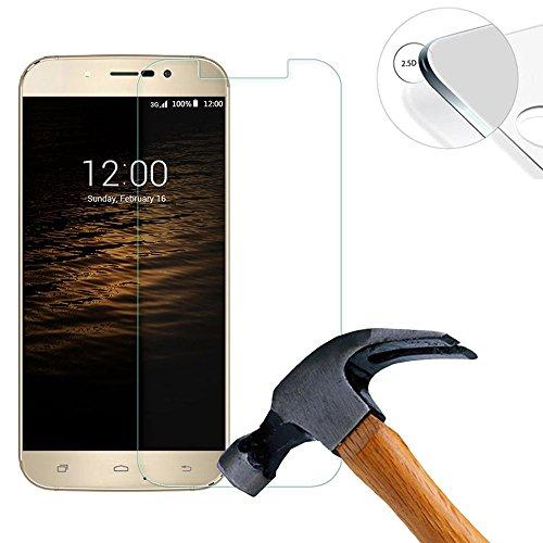 Lusee® 2 X Pack Panzerglasfolie Tempered Glass Hartglas Schutzfolie für UMI Rome / UMI Rome X 5.5 zoll Premium Screen Folie Protector Ultra Hart Bildschirmschutz 0,3mm 9H clear 2.5D