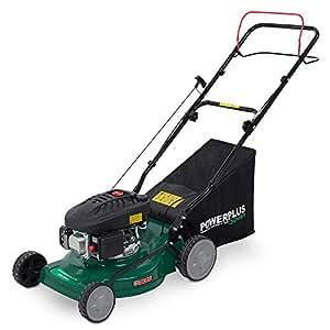 """Powerplus 410mm (16""""), 3 in 1 Self Propelled 4 Stroke 98cc Petrol Driven Garden Lawn Mower with All Steel Deck POW63771 - 2 Year Home User Warranty"""