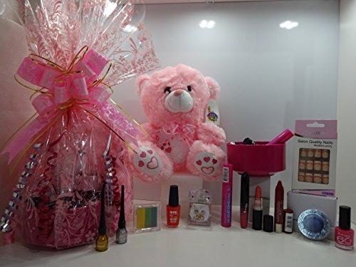 Glory Cosmetics Juego de cesta de maquillaje y oso de peluche, 12 piezas