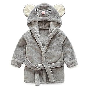 Bebé Albornoz con Capucha Niños Niñas Pijama Ropa de Dormir para Infantil 8
