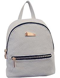 Bolso mochilas mujer, Amlaiworld Moda mochila bolso mujer Mochila de viaje Mochila escolar Mochilas de señoras Mujer Cuero de la PU Bolsos totes mujers (gris, 19cm*17cm*12cm)