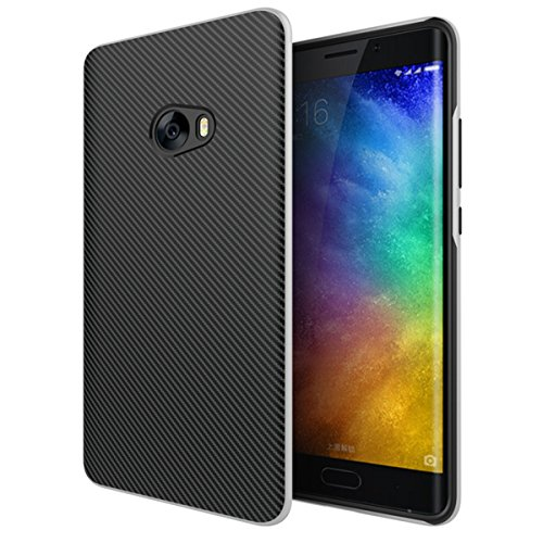 Xiaomi Mi Note 2 Funda, Protección interna TPU Flexible [Ultra Resistente] Marco Exterior Rígido PC efecto Metal [Anti Golpes] Carcasa Híbrida Bumper - Plata