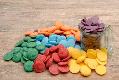 yagma Cake Pop Glasur - Candy Melts, Regenbogenmix (rot, orange, gelb, grün, blau, violett) Schokolade Zum Schmelzen