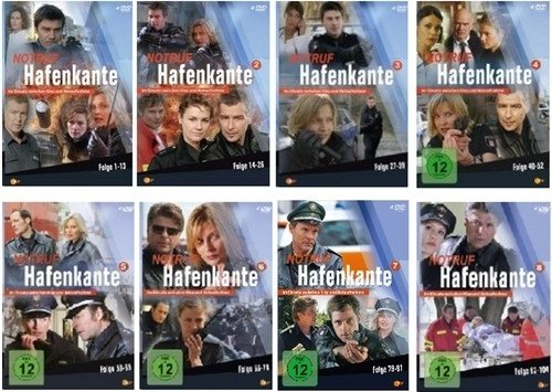 Notruf Hafenkante, Vols. 1-8: Folgen 1-104 (32 DVDs)