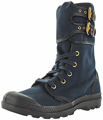 Palladium PAMPA PELOTON da donna tela stivali da combattimento Navy/After Dark