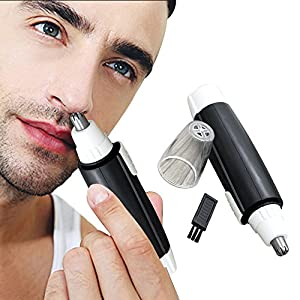 Nasal Hair Trimmer Mumustar Men Women Nose And Ear Hair Trimmer Painless Facial Body Bikini Area Hair Remover Cutter Shaver1AA Battery Operated