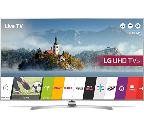 LG 43UJ701V 43 inch Smart 4K Ultra HD HDR LED TV with Freeview HD & Freesat HD with Freeview Play, (Certified Refurbished)