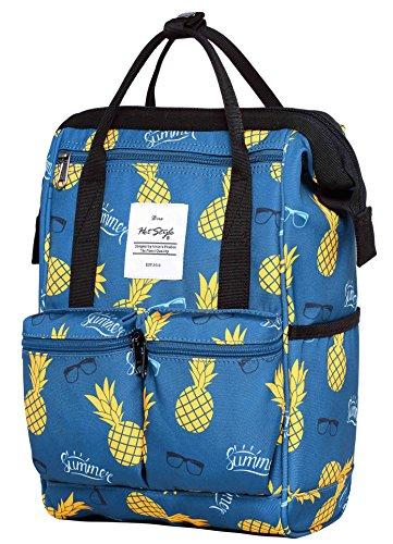 HotStyle DISA Fashion Blumen Damen Laptop Rucksack 12 Zoll (35x23x15cm), Sommer Ananas