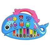 OFKPO Fattoria Animale Didattica Musicale Pianoforte Giocattolo per Bambino - Forma di Balena