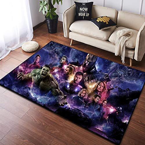 WXYXG Anime Carpet Siamese Plüschmatte Square Mat Living Room Carpet - Multi-Size Multi-Pattern optionaler Teppich (Color : A, Size : 100cm×160cm)