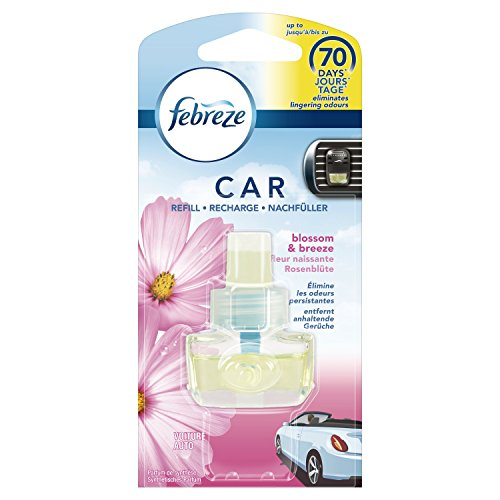 Febreze Rosenblüte Auto-Lufterfrischer Nachfüller 7 ml, 6er Pack (6 x 1 Stück)