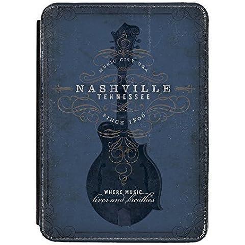 Disfrasado Nashville de guitarra iPad Mini de piel sintética con tapa