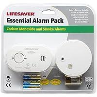 Detector de monóxido de carbono y de humo. Paquete de seguridad fácil de instalar y listo para usar. Viene con pilas gratis