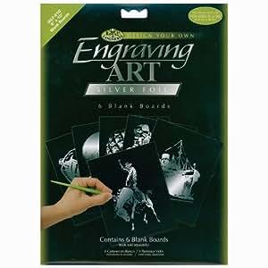 Royal & Langnickel Engraving Art Silver 8 x 10 inch Blank Board (Pack of 6)