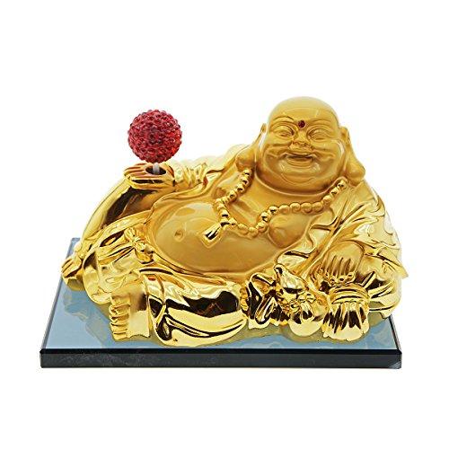 Preisvergleich Produktbild zyhw Parfüm Block Base Happy Buddha Gold Flaschenkürbis Dekoration Lufterfrischer Flasche für Auto Home