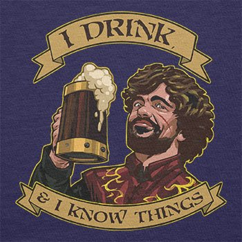 TEXLAB - I drink, and I know things - Herren Langarm T-Shirt Navy