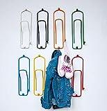 DanDiBo Design Wandhaken Garderobe Garderobenhaken 7er Set Bunt Kleiderhaken Büroklammer 32 cm Klammer Kind Haken Metall