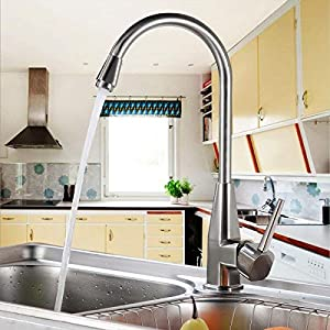 AuraLum Grifo de Baño con Sensor Automático de Inrarrojos Grifo de Lavabo Grifo del Fregadero Agua Fría y Caliente Cromo