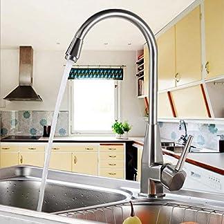 51Rsl8pR2eL. SS324  - AuraLum Grifo de Agua Fría 360° Orientable Montaje Grifo De Lavabo Cascada Sola Palanca Monomando De Fregadero De Cocina