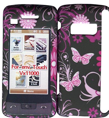 Rosa Schmetterlinge LG enV Touch VX-11000Verizon Fall Hard Handy Cover Schutzhülle zum Aufstecken Blenden (Wireless Verizon Handys Lg)