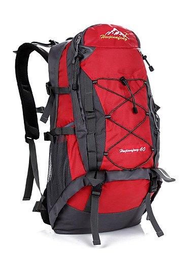 ZQ 40 L Tourenrucksäcke/Rucksack Camping & Wandern Draußen Wasserdicht / Schnell abtrocknend / tragbar / Atmungsaktiv andere Nylon / Oxford Black