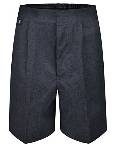 INTEGRITI Boys Pull up School Uniform Shorts Elasticated Pull On Black Grey Navy Ages 2 3 4 5 6 7 8 9 10 11 12 13