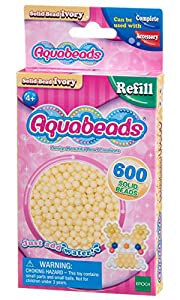 Aquabeads- Solid Beads, Color Marfil (Epoch para Imaginar 32628)