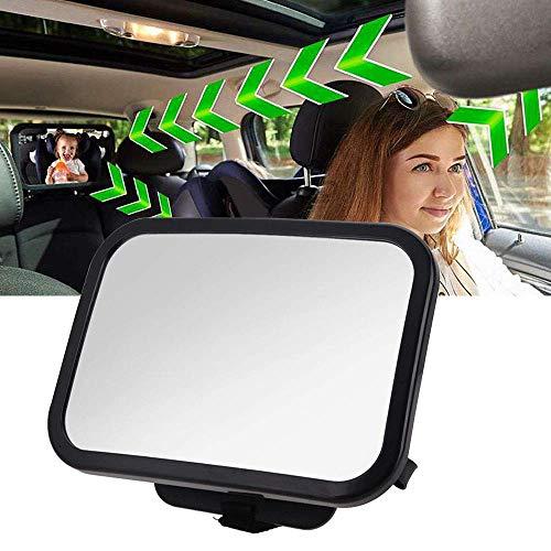 Bébé Siège arrière miroir, 360 ° réglable arrière de voiture de miroir pour nouveau-nés et les jeunes enfants, Crash testé et certifié pour la sécurité
