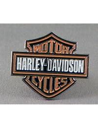 Mainly Metal Broche à épingle en métal émaillé avec logo Harley Davidson
