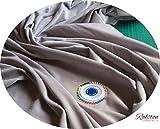 Pre Cut 1Meter Stücke von Silber Grau Baumwolle für