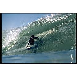 300028 California reef break kneeboard tube ride A4 Photo Poster Print 10x8