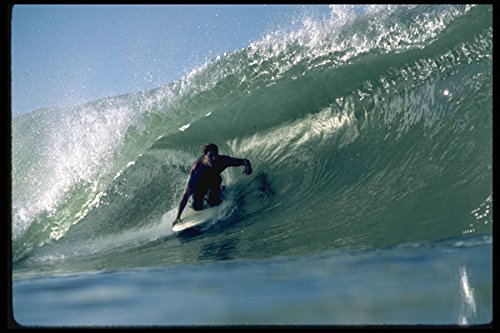 300028 California reef break kneeboard tube ride A4 Photo Poster Print 10x8