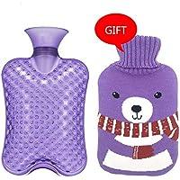 Baoffs Luxus-Wärmflasche Große Größe 2000ML Klassische PVC-heiße kalte Wasser-Flaschen-Tasche mit Abdeckung Winter-hintere... preisvergleich bei billige-tabletten.eu