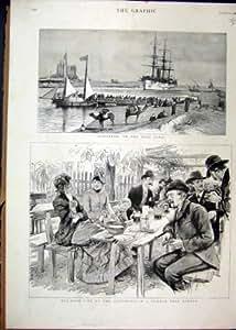 Boire de Jardin de Bière d'Allemand du Canal 1886 de Kantarah Suez