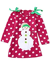 9d02efa61 Tefamore Niña Vestido Otoño Invierno, Recien Nacido Niña Princesa Vestido de  Fiesta Christmas