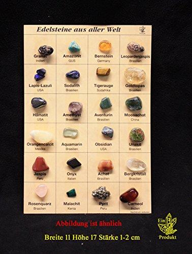 Mineralientafel, Mineraliensammlung, Edelsteine aus aller Welt, M12