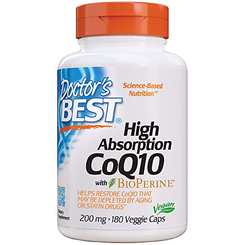 Doctor's Best, hohe Absorption CoQ10, 200 mg, 180 Veggie Caps