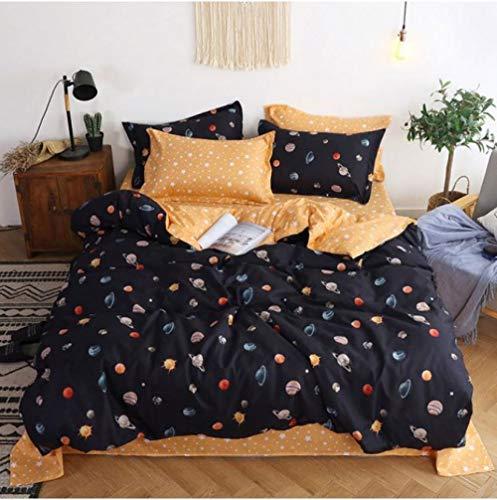 4 Stück Königin Tröster (Bettwäsche Sets Bettbezug 3/4 stücke Bettbezug Set Bettbezug Erwachsene Kind Bettwäsche Und Kissenbezüge Tröster Bettwäsche, Königin 4 stücke 200x230 cm)