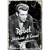 Nostalgic Art James Dean 'Rebel Without A Cause' Metal Postcard Sign With Envelope by Nostalgic Art