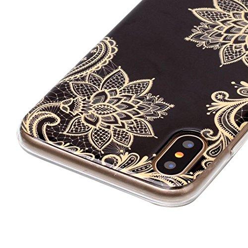 iPhone X Case, iPhone 10 Hülle Silikon, Moon mood® TPU Silikon Handyhülle Schutzhülle Case für Apple iPhone 10 X 5.8 Zoll Thin Dünn Weich TPU Schutz Etui Cover, Flexibel Silikon Case Cover Backcover S 3 PCS - 1