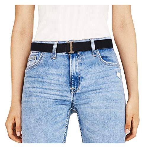 JasGood Unsichtbare Damen Stretch Gürtel No Show Elastic Einstellbare Web Gürtel Mit Flacher Schnalle Für Jeans Hosen Kleider - Kleider Western Für Frauen