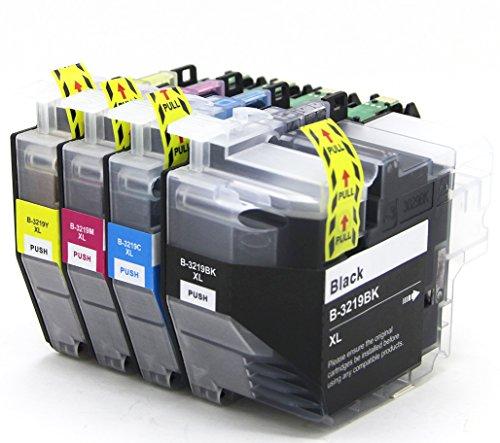 4 X Druckerpatronen kompatibel mit Brother LC3219XL LC3219 für MFC-J5330DW MFC-J5335DW MFC-J5730DW MFC-J5930DW MFC-J6530DW MFC-J6930DW MFC-J6935DW Drucker - Schwarz, Cyan, Magenta, Gelb