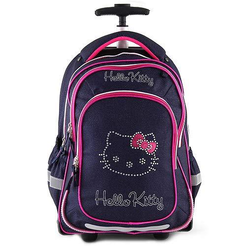 Hello Kitty TROLLEY Valigia per bambini, 47 cm, 28 liters, Blu (Blaue Jeans/Rosa)