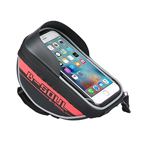 Cocohot Wasserdicht Touchscreen Fahrrad Taschen Handy Lagerung Tasche Red
